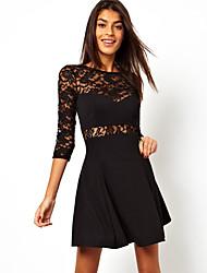 hdxs moda de las mujeres de todo el vestido cómodo partido