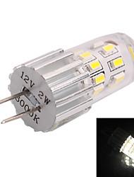 g4 2W 140lm 7000k 24x3014 blanc conduit ampoule (dc 12v)