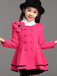 Girl's Cotton Jacket & Coat , Fall/Spring Long Sleeve