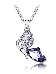borboleta rápida curto colar popular, revestida com 18k platina verdade tanzanita cristalizado strass cristal austríaco