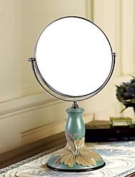 """haoxinyi® 14 """"h sinensis fleur moderne maquillage de style de jardin Miroir de polyrésine deux côtés"""