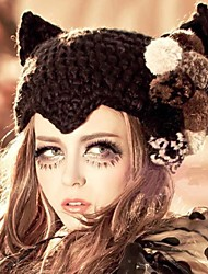 Joker mode mignonnes fleurs diable des femmes de chapeau chaud épaississement