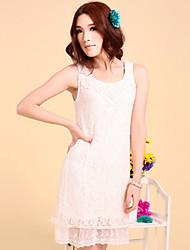One-xuan Women's Casual Sleeveless Lace Dress