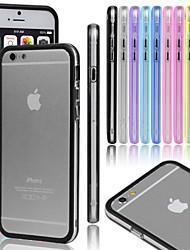 VORMOR® Gel Transparent Bumper Metal Button Case for iPhone 5/5S