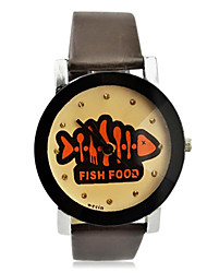 Children's Fish Food Pattern PU Band  Quartz Wrist Watch (Assorted Colors) Cool Watches Unique Watches