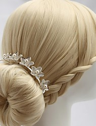 Women's/Flower Girl's Alloy/Cubic Zirconia Headpiece - Wedding/Special Occasion Hair Combs/Flowers