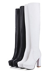Women's Shoes Round Toe Platform Chunky Heel Knee High Boots More Colors available
