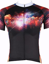 ILPALADINO Cycling Jersey Men's Short Sleeve Bike Breathable Quick Dry Ultraviolet Resistant Jersey Tops 100% PolyesterNature &
