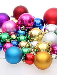 4cm Christmas Ball  Color Random (Set of  6)