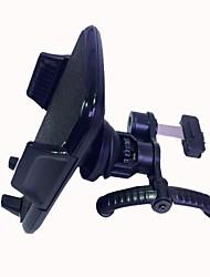 360 grados titular de ventilación del aire del coche giratorio universal para teléfono móvil - negro