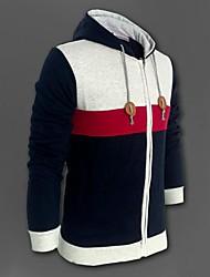 MANWAN WALK®Men's Colour Patch Sport Hoodie Coat