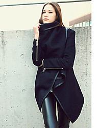 Women's Winter Casual Solid Asymmetric Jacket