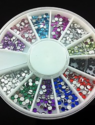360pcs 2mm Nail Art Acryl Strass Nagelkunstdekoration