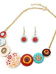 gotear circular moda traje collares pendientes (color al azar)