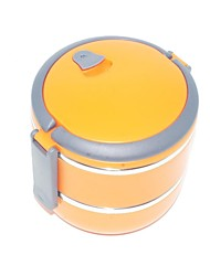2 Kitchen Stainless Steel Lunch Box