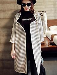 женская простой четкий корейского способа пальто
