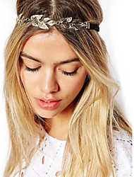 Vintage Gold Leaf Crystal Hairband Headband Head Chain Hair Jewelry Hair Accessires Head Jewelry