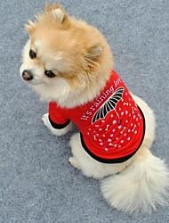 Katzen / Hunde T-shirt Rot Hundekleidung Sommer Herzen
