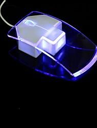 flash de luz led usb mouse óptico com fio (1200dpi)