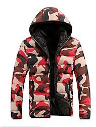 RUILIKE®Men's Hoodie Collar Casual Camouflage Long Sleeve Outwear