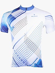 ILPALADINO Cycling Jersey Men's Short Sleeves Bike Jersey Tops Quick Dry Ultraviolet Resistant Breathable 100% Polyester Polka Dots