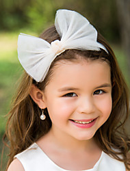 Tulle Bowknot Flower Girl Kids' Headband Headpiece