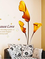 Sweet PVC Callas Wall Stickers