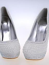 Feminino Wedding Shoes Saltos/Arrendondado Saltos Casamento/Social/Festas & Noite Branco