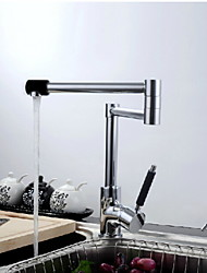 Contemporary Chrome Finish One Hole Single Handle Kitchen Faucet