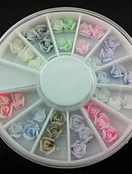 36PCS 3D Rose Fimo Nail Art Decoration