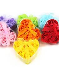 creatieve hart-vormige roos zeep bloem willekeurige kleur