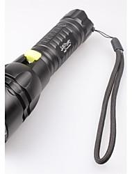 Linternas LED Linternas de Mano LED 2400 Lumens 5 Modo Cree XM-T6 L2 18650.0 Impermeable Camping/Senderismo/Cuevas De Uso Diario