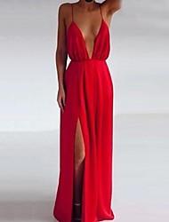 vestido de cuello v profunda sexy de las mujeres