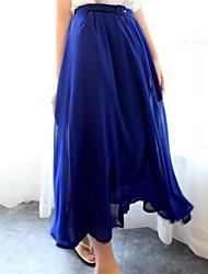 elegante abito chiffon maxi delle donne