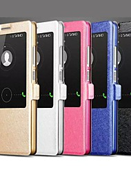 Silk Print a Single Window Design PU Leather Full Body Case with Stand for Huawei Mate 7/D3 (Assorted Colors)