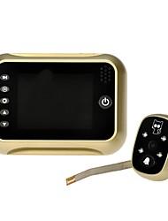 "3.5"" LCD Digital Peephole Viewer 120° Door Eye Doorbell Video Color IR Camera gold"