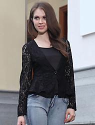 Ricci Women's Fashion Slim Cut Out Lace Short Suit