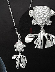 Women's Silver Fish Necklace