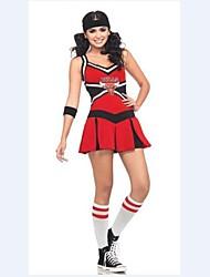 cheerleader costumes de costumes de pom-pom girl femmes s'habillent + chapeau + bracelet