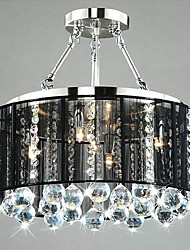 Flush Mount ,  Traditional/Classic Chrome Feature for Crystal Metal Bedroom Dining Room Study Room/Office Hallway