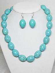 colar turquesa conjunto de jóias brinco das mulheres