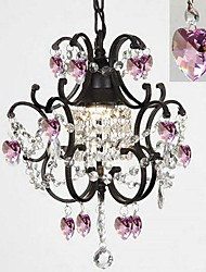 MAX:60W Traditional/Classic Crystal Painting Metal Chandeliers Bedroom / Dining Room / Study Room/Office / Hallway