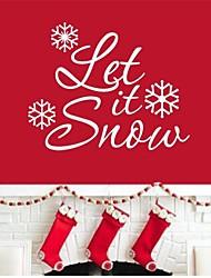 jiubai® natale citazione let it snow parete della decalcomania della parete dell'autoadesivo, 57 centimetri * 45 centimetri