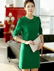 Women's Slim  Waist Long Sleeved Dress(More Color)