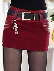 incern®women taillierten Wolllederminiröcke mit Anhänger (mehr Farben)