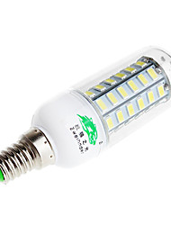 Zweihnder  E14 9W 800lm 6500K 56 x SMD 5730 Lamp LED White Light Corn Light (AC 220V)