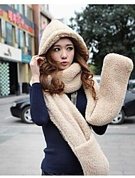 Women's Double Warm Plush Three in One Collar
