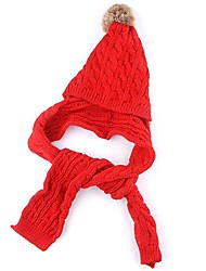 Lovely Red Baby Girls Child Kids Winter Warm Ear Flap SKI Hat Scarf Cap Beanie