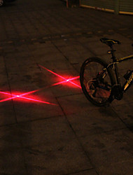 UNGROL Double Red Cross Design 1 Laser Module 6 LED 6 Flash Mode Black Bike Warning Laser Light