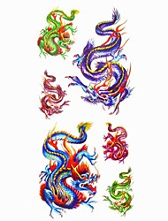 1pc Flying Dragon Waterproof Tattoo Sample Mold Temporary Tattoos Sticker for Body Art(18.5cm*8.5cm)